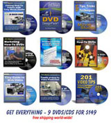 Get all of our DVDs/CDs for a very special price - 9 in all!